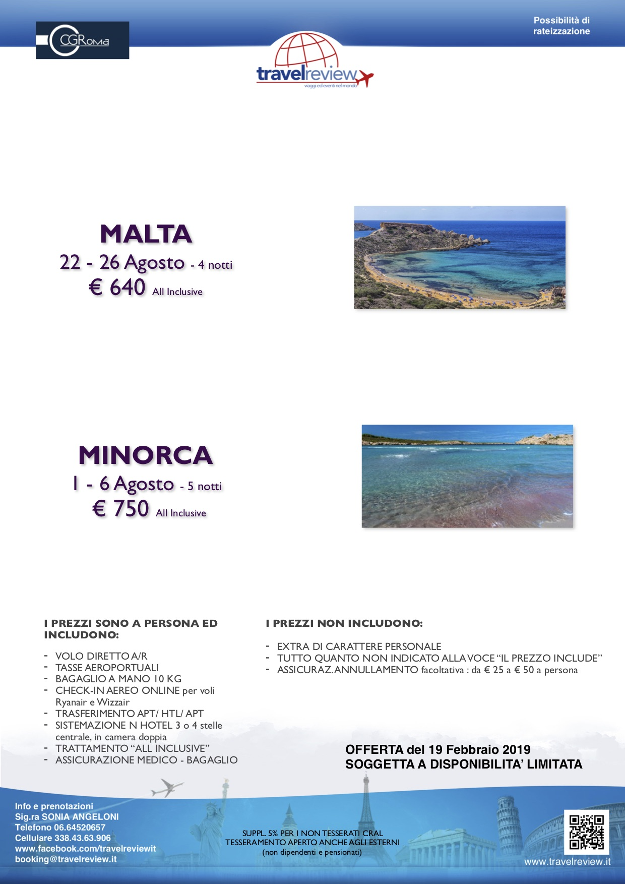 ISOLE DAGOSTO in ALL INCLUSIVE CRAL CIGIRO